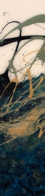 Title: Days Like This II , Size: 24x6 , Medium: Oil and Resin on Board , Price: $325