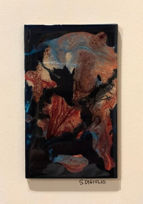 Title: Lena VII , Size: 7x5 , Medium: Oil and Resin on Board , Price: $75
