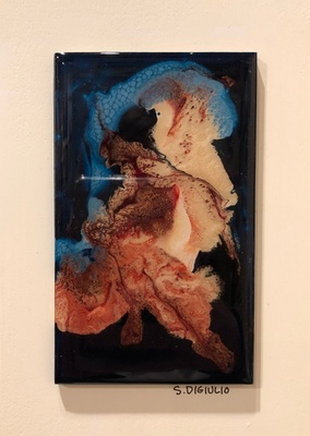 Title: Lena IX , Size: 7x5 , Medium: Oil and Resin on Board , Price: $75