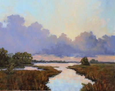 Title: On the Marsh , Size: 24x30 , Medium: Oil on Canvas , Price: $3,000
