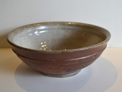 Title: Woodfired Serving Bowl , Medium: Clay , Price: $125