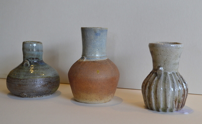 Title: Woodfired Bud Vases , Medium: Clay , Price: $40
