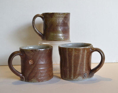 Title: Woodfired Mugs , Medium: Clay , Price: $45