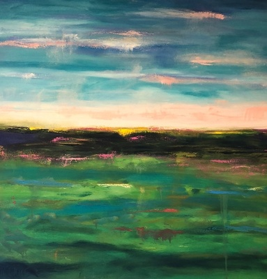 Title: Abstract Landscape XIII , Size: 48x48 , Medium: Oil on Canvas , Price: $2,800