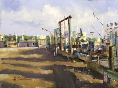 Title: The Docks , Size: 12x16 , Medium: Oil on Linen , Price: $800