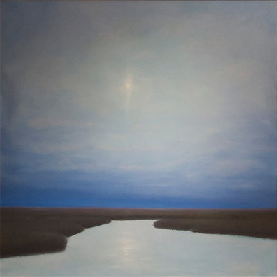 Title: Peaceful Moonlight , Size: 48x48 , Medium: Oil on Canvas , Price: $4,500