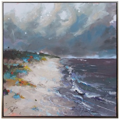 Title: 50 Shades of Storm , Size: 48x48 , Medium: Acrylic on Canvas , Price: $6,200