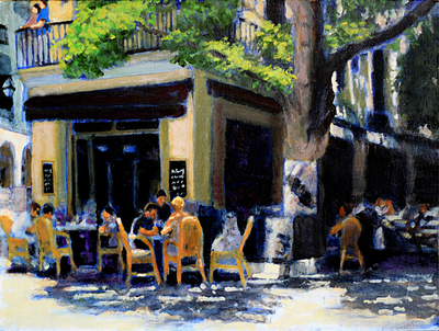 Title: Mallorca , Size: 12x16 , Medium: Oil on Linen , Price: $575