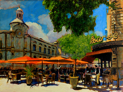 Title: The Grand Bourse , Size: 12x16 , Medium: Oil on Linen , Price: $575