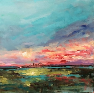 Karen Scott - Evening at Ravenel Bridge