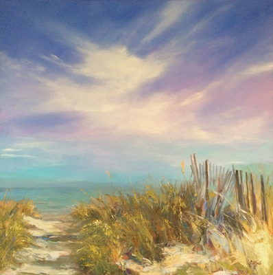Title: Summer Skies , Size: 36x36 , Medium: Oil on Canvas , Price: $2,200
