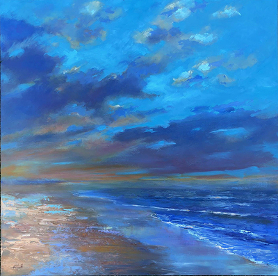 Title: Shimmering Shores , Size: 36x36 , Medium: Oil on Canvas , Price: $2,200