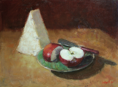Title: Snack Time , Size: 9x12 , Medium: Oil on Canvas , Price: $675