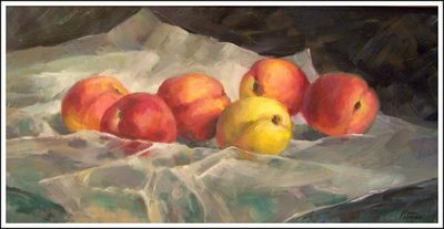 Title: Peaches , Size: 10x20 , Medium: Oil on Canvas , Price: $1,200