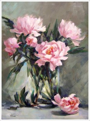 Title: Peonies , Size: 16x12 , Medium: Oil on Canvas , Price: $900