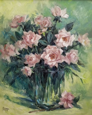 Title: Roses , Size: 20x16 , Medium: Oil on Canvas , Price: $1,200