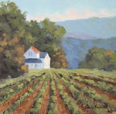 Title: Western NC Vineyard , Size: 12x12 , Medium: Oil on Canvas , Price: $550