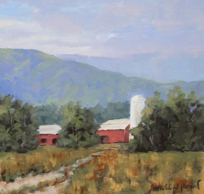 Title: Blue Ridge Farm , Size: 12x12 , Medium: Oil on Canvas , Price: $550
