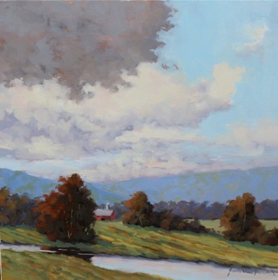 Title: Storm Over the Blue Ridge , Size: 20x20 , Medium: Oil on Canvas , Price: $1,525
