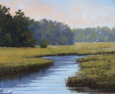 Title: Spring Marsh , Size: 20x24 , Medium: Oil on Canvas , Price: $1,595