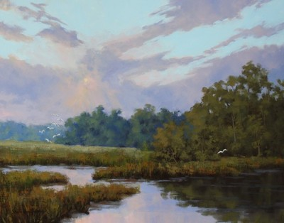 Title: Morning Over the Marsh , Size: 24x30 , Medium: Oil on Canvas , Price: $3,000