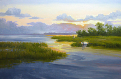 Sandy Nelson - Remnants of the Day - Oil on Canvas - 24x36