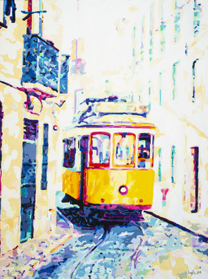 Title: Summer Trolly , Size: 40x30 , Medium: Acrylic on Canvas , Price: $2,400