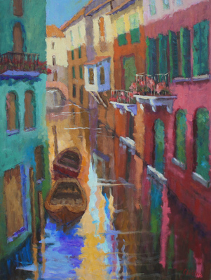 Title: Peaceful Canal , Size: 40x30 , Medium: Oil on Canvas , Price: $5,500