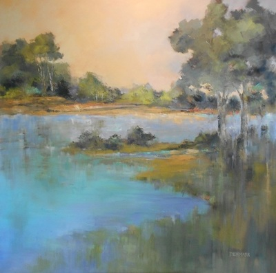 Title: Reflections V , Size: 48x48 , Medium: Oil on Canvas , Price: $4,100