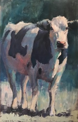 Title: Grazing After the Rain , Size: 48x30 , Medium: Oil on Canvas , Price: $3,200