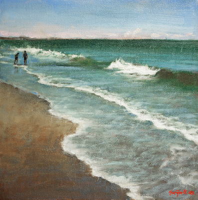 Title: The Shore , Size: 12x12 , Medium: Oil on Canvas , Price: $475