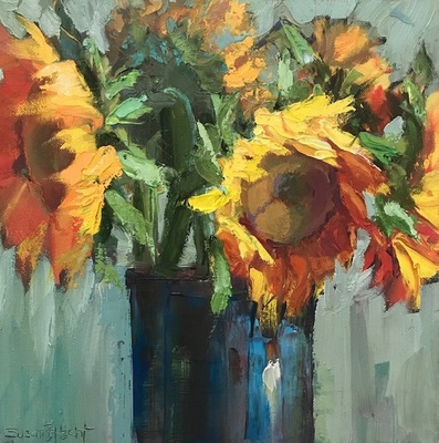 Title: Fall Bouquet , Size: 12x12 , Medium: Oil on Canvas , Price: $575