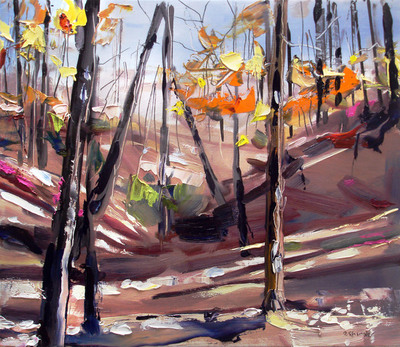 Title: Fall at Stone Mountain , Size: 12x14 , Medium: Oil on Board , Price: $575