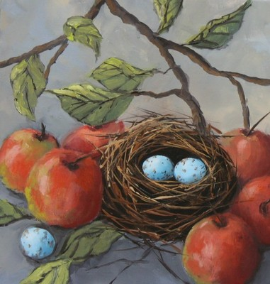 Sheila Wood Hancock - Apples and Eggs