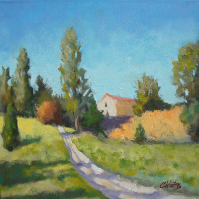 Title: Colors of Back Roads in France , Size: 12x12 , Medium: Oil on Canvas , Price: $600