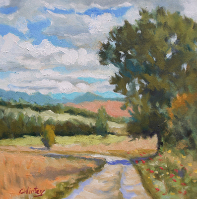 Title: Country Colors of France , Size: 12x12 , Medium: Oil on Canvas , Price: $600