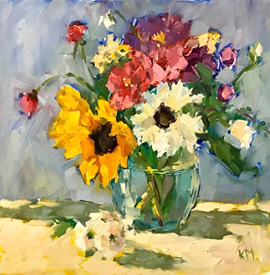 Title: Summer Bouquet , Size: 12x12 , Medium: Oil on Canvas , Price: $900