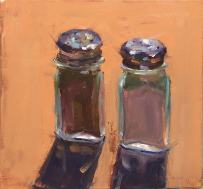 Title: The Shakers of the Movers and Shakers , Size: 12x12 , Medium: Oil on Canvas , Price: $450