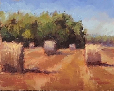 Title: Picked and Baled , Size: 8x10 , Medium: Oil on Canvas , Price: $485