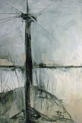 Title: Eyrie , Size: 36x24 , Medium: Oil and Encaustic on Linen , Price: $1,900