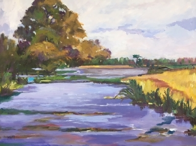 Title: Inlet toRiver , Size: 24x30 , Medium: Oil on Board , Price: $1,500