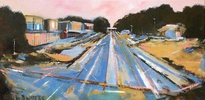 Title: Raleigh Rail Yard Blues , Size: 15x30 , Medium: Oil on Canvas , Price: $800