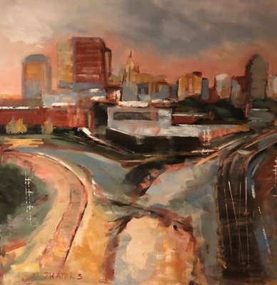 Title: Boylan Avenue Junction I , Size: 36x36 , Medium: Oil on Canvas , Price: $2,200