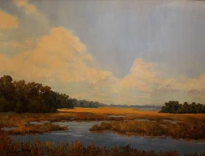 Title: Low Country Marshscape , Size: 30x40 , Medium: Oil on Canvas , Price: $4,000