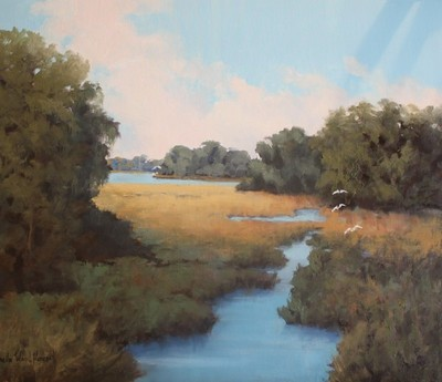 Title: Through The Marsh , Size: 20x24 , Medium: Oil on Canvas , Price: $1,995