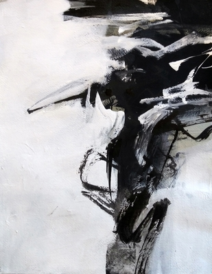 Title: Black and White Study I , Size: 11x14 , Medium: Acrylic on Paper , Price: $225