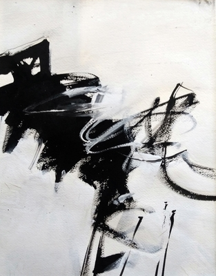Title: Black and White Study IV , Size: 11x14 , Medium: Acrylic on Paper , Price: $225