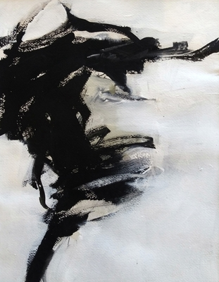 Title: Black and White Study VII , Size: 11x14 , Medium: Acrylic on Paper , Price: $225