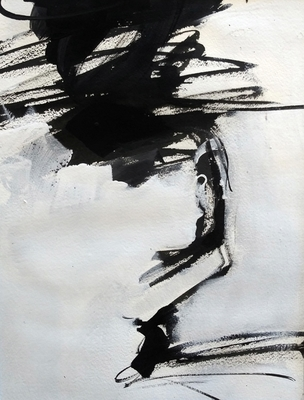 Title: Black and White Study IX , Size: 11x14 , Medium: Acrylic on Paper , Price: $225