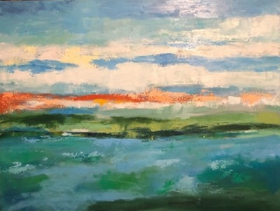 Title: Sunny Day II , Size: 36x48 , Medium: Oil on Canvas , Price: $2,400